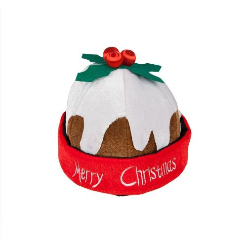 Christmas Pudding Hat Festive Xmas Nativity Fancy Dress Cosplay